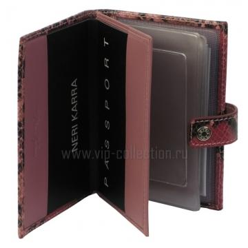 Обложка для автодокументов + паспорт NERI KARRA 0031.2.48.35 питон
