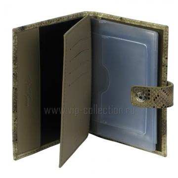 Обложка для автодокументов + паспорт NERI KARRA 0031.2.50.52 змея