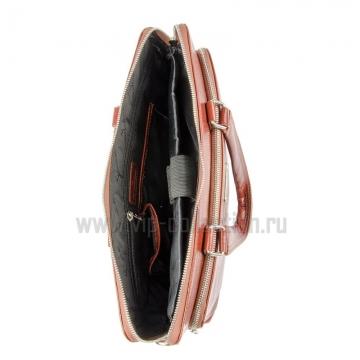 Сумка портфель VIP Collection 113415 cognac
