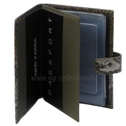 Обложка для автодокументов + паспорт NERI KARRA 0031.2.38.11 питон