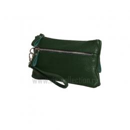21501 зеленый Vip Collection кошелек-клатч