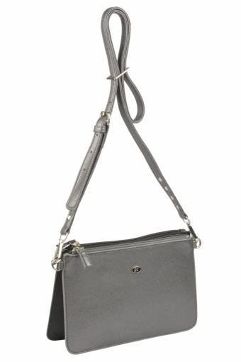 3573 CM BLACK SILVERY GREY Женская сумка кросс-боди David Jones