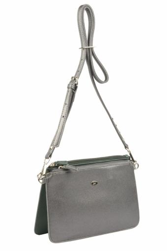 3573 CM D.GREEN SILVERY GREY Женская сумка кросс-боди David Jones