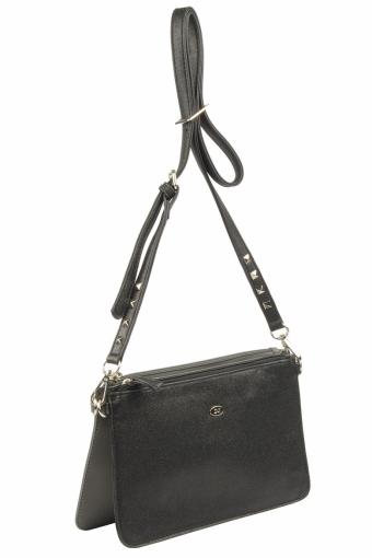 3573 CM D.GREY BLACK Женская сумка кросс-боди David Jones