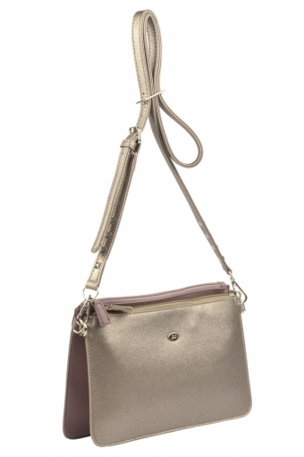 3573 CM D.PINK ANCIENT GOLDEN Женская сумка кросс-боди David Jones