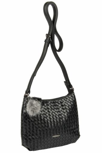 3597 CM BLACK Женская сумка кросс-боди David Jones