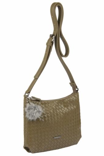 3597 CM KHAKI Женская сумка кросс-боди David Jones