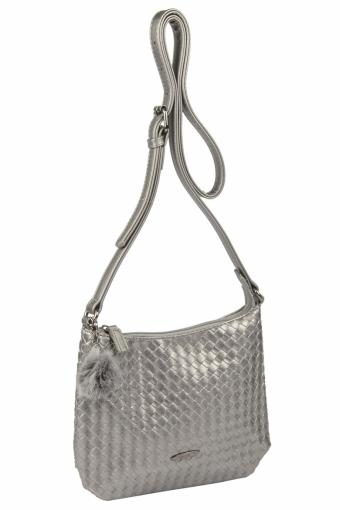 3597 CM SILVERY GREY Женская сумка кросс-боди David Jones