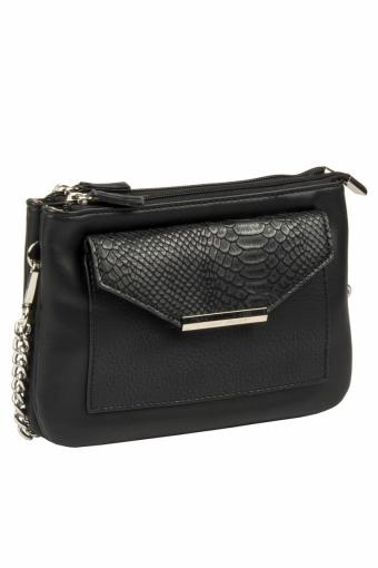 3606 CM BLACK Женская сумка кросс-боди David Jones