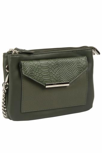 3606 CM D.GREEN Женская сумка кросс-боди David Jones