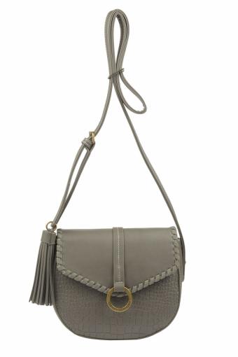 5630-2 D.GREY Женская сумка кросс-боди David Jones