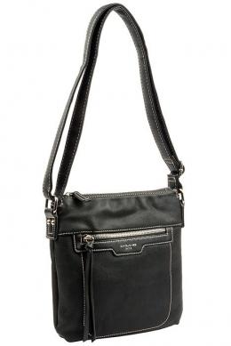 6101-1 BLACK Женская_сумка кросс_боди David Jones