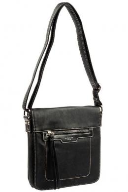 6101-2 BLACK Женская_сумка кросс_боди David Jones