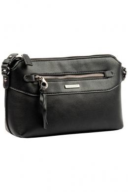 6110-1 BLACK Женская_сумка кросс_боди David Jones