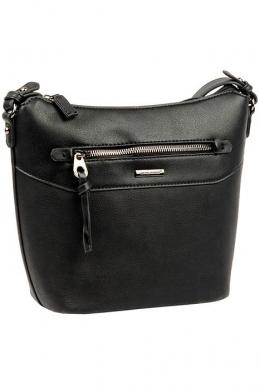 6110-2 BLACK Женская_сумка кросс_боди David Jones