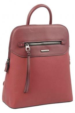 6110-3 BORDEAUX Сумка-рюкзак David Jones