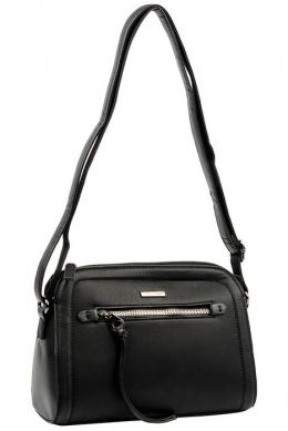 6111-1 BLACK Женская_сумка кросс_боди David Jones