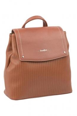 6124-2 BROWN Сумка-рюкзак David Jones