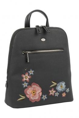 6130-3 BLACK Сумка-рюкзак David_Jones