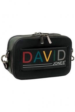 6138-1 BLACK/D.GREEN Женская_сумка кросс_боди David Jones