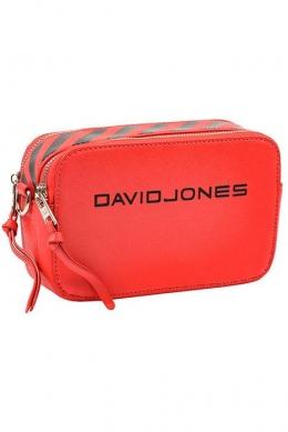 6169-1 RED Женская_сумка кросс_боди David Jones