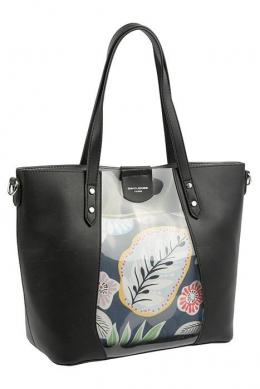 6245-2 BLACK Сумка женская David Jones, комплект
