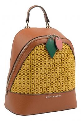 6246-3 COGNAC Сумка-рюкзак David Jones