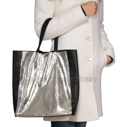 18002 Silver сумка женская натуральная кожа